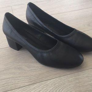 Jeffrey Campbell black low heel shoes